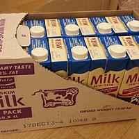 超级好价!!DEVONDALE 德运 部分脱脂牛奶 1L*20盒   99元  晒单(饮后感)