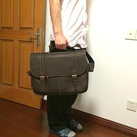 Samsonite 新秀丽 Colombian Leather Flapover Case 男款皮质公文包