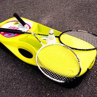 迪卡侬  便携羽毛球网架  墨白评测