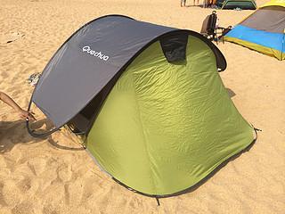 一起去露营吧:Decathlon 迪卡侬 2秒 户外全自动快开帐篷