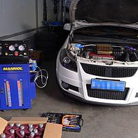 14W公里5年天语sx4 自动变速箱循环换油机更换mannol 美络 jws 3309变速箱油