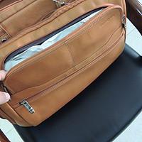 Samsonite 新秀丽 colombian leather toploader公文包 — 容量确实大,可悲催的买错了颜色