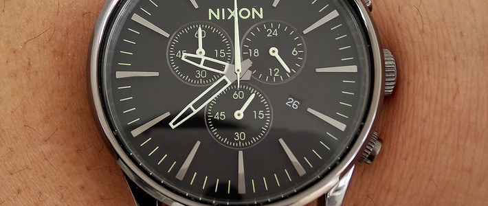 Nixon Sentry Chrono Watch 时尚腕表