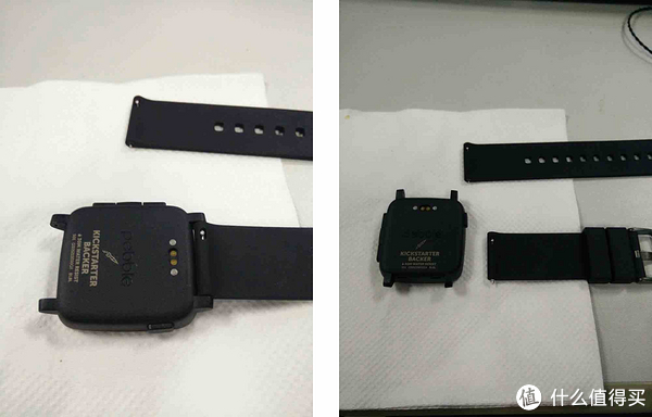 兼容22mm标准表带,官方表带可以快拆。