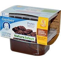 Gerber, 1st Foods, NatureSelect,有机西梅泥,2包装,每包2.5盎司(71克)