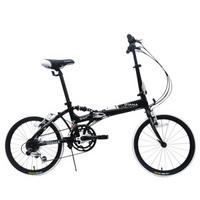 台湾欧亚马/OYAMA折叠自行车酷炫M500 20寸12速铝合金车架运动型减震折叠车 黑色 20寸