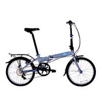 Ford福特折叠自行车 野马 20寸7级变速 铝合金车架男女式单车 大行出品KAA072 魅影灰
