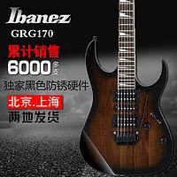 依班娜电吉他 IBANEZ GRG170DX GRG170 电吉他 套装 小双摇电吉他