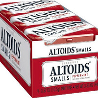Altoids Smalls Mints, Peppermint, 0.37 Ounce (Pack of 9)