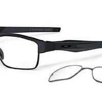 Oakley Crosslink Switch OX3128-01 Eyeglasses-Satin Black/Black/Black-53mm
