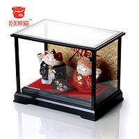 正品招财猫 连理同心猫展示盒(大)陶瓷 婚庆 家居摆件 创意礼品