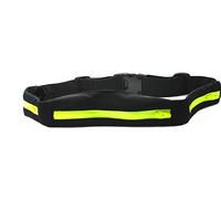 GoOut三口袋 防水防汗户外运动收纳腰包 男女款手机腰包 跑步马拉松单车徒步旅游登山滑雪(黑绿色)