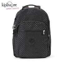 Kipling凯浦林2015春女包旅行背包双肩包K15015黑色波点纹