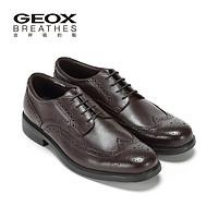 GEOX/健乐士2016延续款时尚商务正装布洛克呼吸透气鞋U34R2B