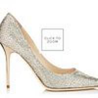 Champagne Glitter Pointy Toe Stiletto Pumps