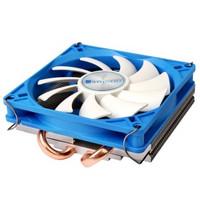 乔思伯(JONSBO)HP-200 INTEL平台超薄下吹CPU散热器 2热管 9CM静音风扇