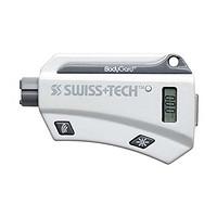 Swiss+Tech 瑞士科技 七合一多功能迷你钥匙扣救生工具 车友必备(安全锤、报警器、测胎压、LED手电、温度计、安全带切割刀、钥匙环)