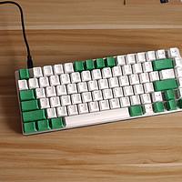 捕获者 108键奶酪绿PBT透光键帽上黑爵AK33 RGB版黑轴键盘【附效果视频】