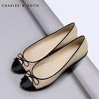 CHARLES&KEITH[8.5折]单鞋 CK1-70300339 女鞋蝴蝶结圆头平底鞋