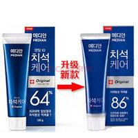 韩国爱茉莉牙膏麦迪安牙膏 86%美白牙膏120g蓝盒