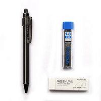铅笔套装 日本国誉KOKUYO进口学生文具礼物自动铅笔 黑色1.3mm