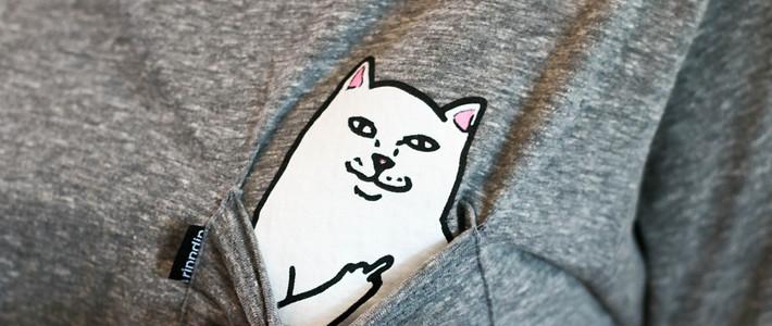 #本站首晒# 卖萌?naive!Ripndip LORD NERMAL 魔性中指猫T恤 晒物&官网购买流程