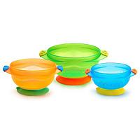 Munchkin, 吸盘碗,6个月以上适用,3个装