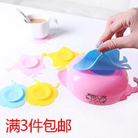 婴儿童餐具吸盘贴 宝宝碗吸盘碗双面吸盘魔力硅胶吸盘防滑吸碗垫