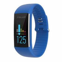 POLAR博能 可穿戴设备男女腕表硅胶计步器手表测心率监测 防水智能运动手环表 A360 蓝色 中码