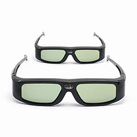 2 Pack of SainSonic SSZ-200DLB 144Hz 3D Infrared Active Rechargeable Shutter Glasses for ALL 3D DLP-Link Projectors, TV and HDTV - Acer, Benq, Viewsonic, Optoma, Sharp, Mitsubishi, Nvdia, Sony, LG, TCL, Panasonic, Samsung, Vivitek