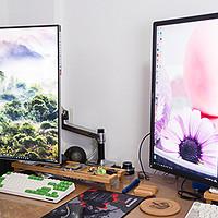 打造完美书房 篇二:还原一个整洁桌面——Ergotron 爱格升 45-241-026 LX 显示器支架&竹木收纳托架