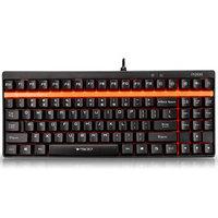雷柏(Rapoo)V500 机械游戏键盘 机械茶轴 黑色版