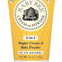 Burt\'s Bees Baby Bee Cream to Powder, 4 Ounce
