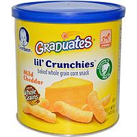 Gerber, Graduates Lil Crunchies泡芙,淡味切达,1.48盎司(42克)