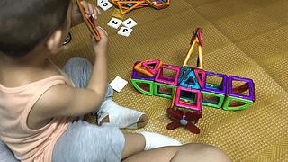 越多越好玩:mibokids 米宝兔 磁力片 百变益智积木
