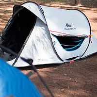 众测懒人的利器:迪卡侬Quechua(趣岳)两秒快开防晒遮光帐篷【附真人兽】