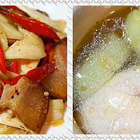 枫の私房 篇六十八:一汤一菜一人食:竹荪椰子鸡+茭白炒腊肉,一半海水一半火焰