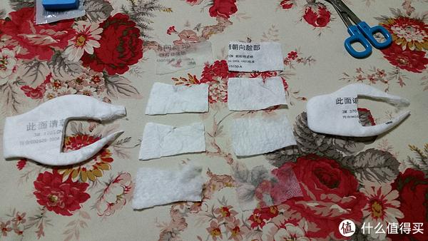 然后我把两种滤棉剪开一层一层对比了下