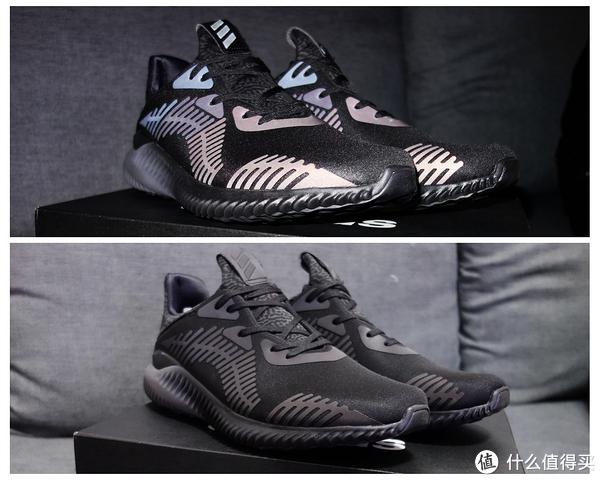 #本站首晒#夜光中最亮的鞋  adidas 阿迪达斯 alphabounce xeno 跑鞋