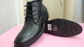 1.7折买le saunda 莱尔斯丹 时尚行政系列 男牛皮短靴 LS 3TM66916BKL 黑色 40