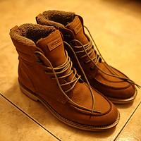 冬天来了 晒晒海淘 ECCO 爱步 Bendix Moc Toe Boot 男款保暖皮靴