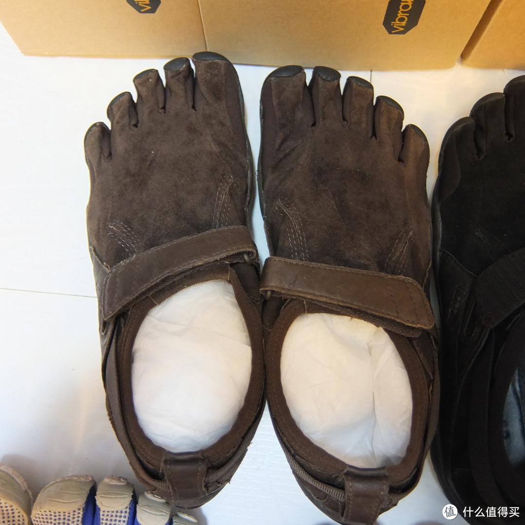 晒几双 Vibram Fivefingers 五趾鞋:Bikila LS、KSO Trek、Classic