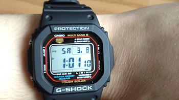 "CASIO 卡西欧 G-Shock GWM5610-1 男款腕表 + ""玩具表""MQ24-1B3"