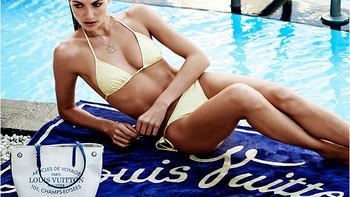 超模杰西卡·哈特性感演绎LV 路易威登2014夏季系列