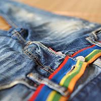 【真人秀】DSQUARED2 D二次方 彩虹牛仔裤 S74LA0386,人鱼线乱入