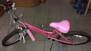 给女儿买的六一节礼物:Goodbaby 好孩子18英寸五档调速女童自行车
