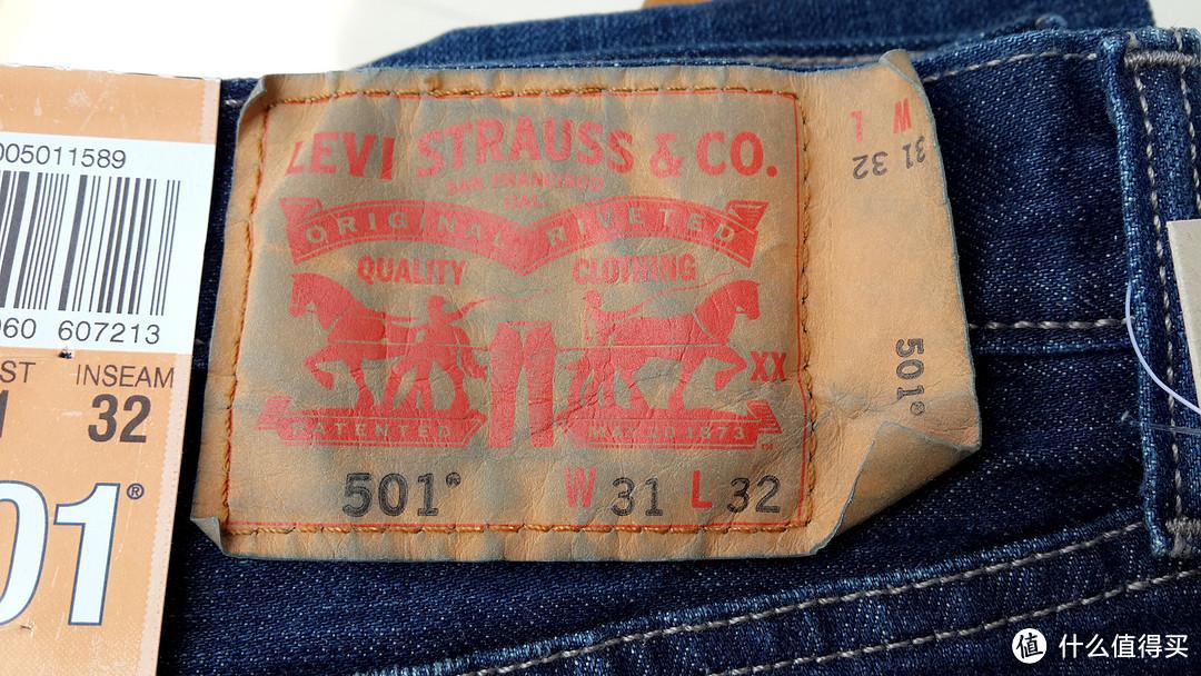 一时恍惚被剁手:319元中亚入手Levi's 李维斯 501系列 男式 标准中腰牛仔裤 W29 00501-1589
