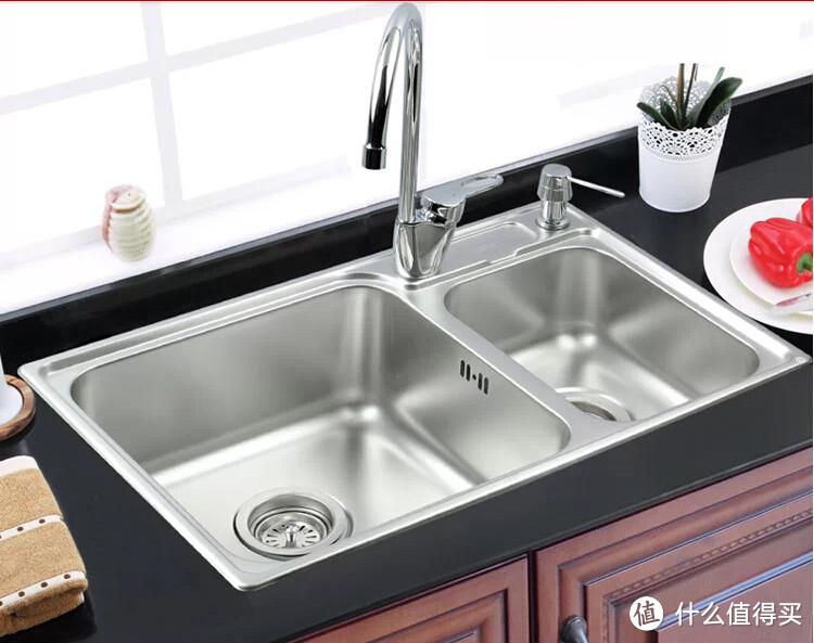 中亚Z实惠入手 MOEN 摩恩波顿双槽厨盆水槽套装(厨盆+厨房龙头+皂液器)