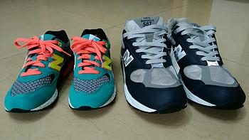 New Balance 新百伦 休闲鞋:M587 & WRT580 晒单与浅谈穿着感受