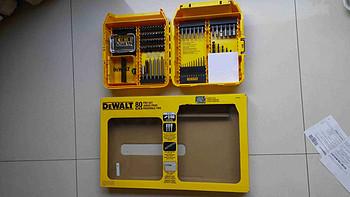 家居必备 篇二:DEWALT 得伟 DW2587 80-Piece 高端电钻工具箱